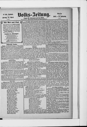 Volks-Zeitung vom 24.04.1903