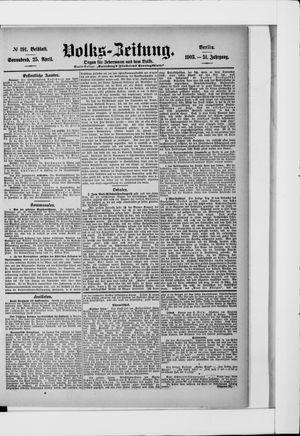 Volks-Zeitung vom 25.04.1903