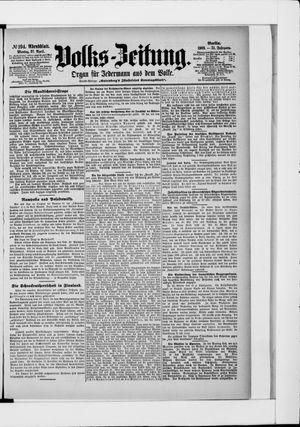 Volks-Zeitung vom 27.04.1903