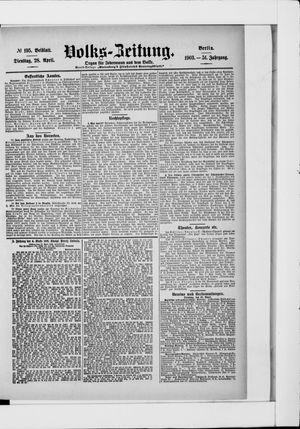 Volks-Zeitung vom 28.04.1903
