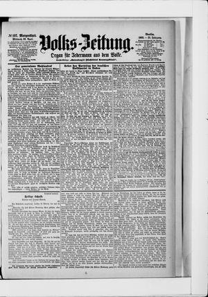 Volks-Zeitung vom 29.04.1903
