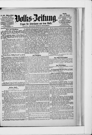 Volks-Zeitung vom 30.04.1903