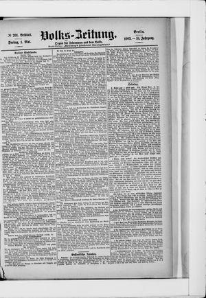 Volks-Zeitung vom 01.05.1903