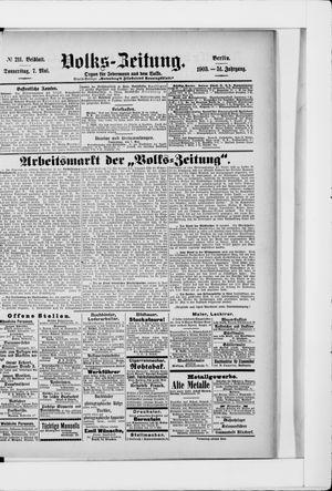 Volks-Zeitung vom 07.05.1903
