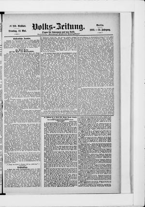 Volks-Zeitung vom 12.05.1903