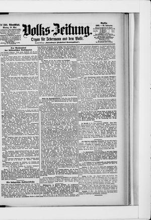 Volks-Zeitung vom 18.05.1903