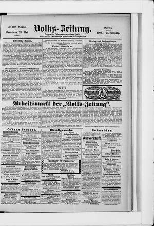 Volks-Zeitung vom 23.05.1903