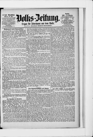 Volks-Zeitung vom 25.05.1903
