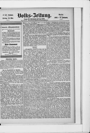 Volks-Zeitung on May 29, 1903