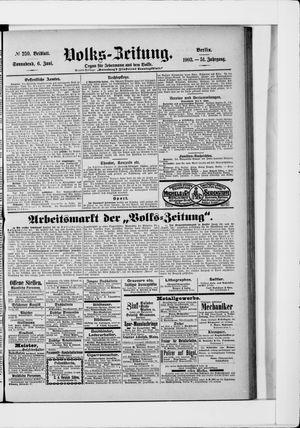 Volks-Zeitung vom 06.06.1903