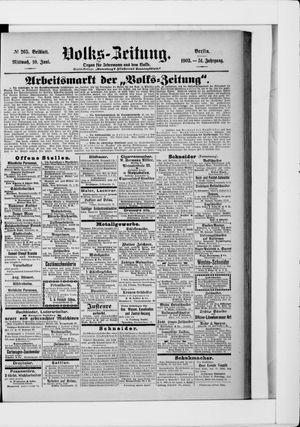 Volks-Zeitung on Jun 10, 1903