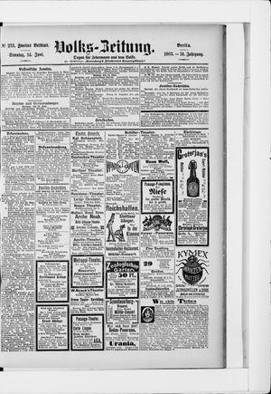 Volks-Zeitung vom 14.06.1903