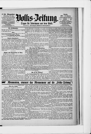Volks-Zeitung vom 25.06.1903