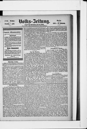 Volks-Zeitung vom 07.07.1903