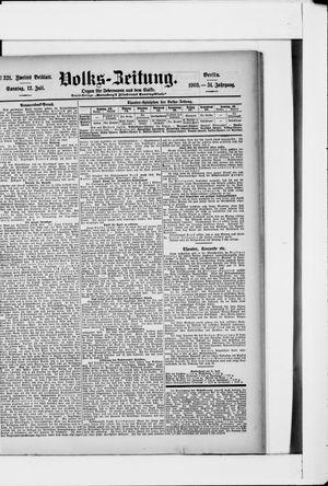 Volks-Zeitung vom 12.07.1903