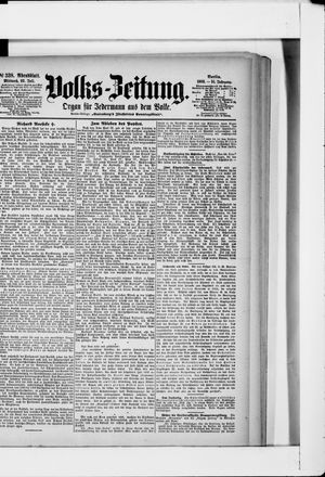 Volks-Zeitung vom 22.07.1903