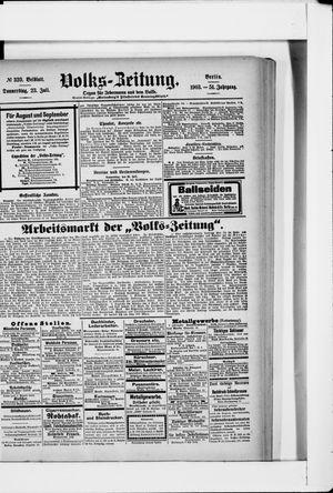 Volks-Zeitung vom 23.07.1903