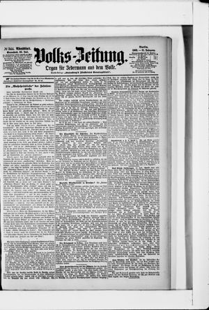 Volks-Zeitung vom 25.07.1903