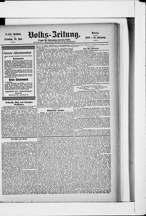 Volks-Zeitung vom 28.07.1903