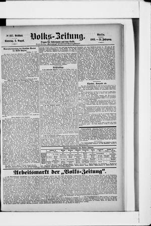 Volks-Zeitung vom 02.08.1903