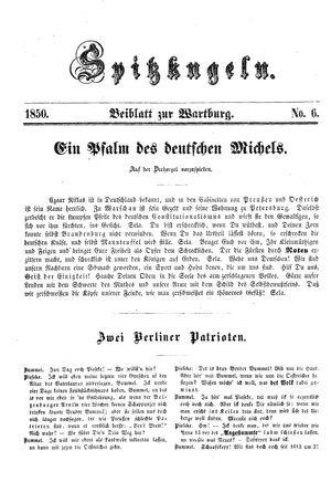 Spitzkugeln vom 15.11.1850