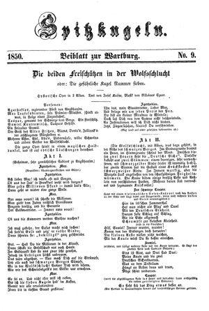 Spitzkugeln vom 06.12.1850