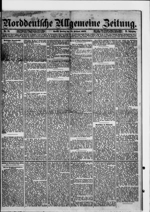Norddeutsche allgemeine Zeitung vom 14.02.1879