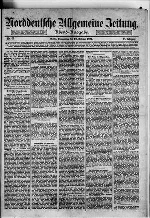 Norddeutsche allgemeine Zeitung on Feb 20, 1879