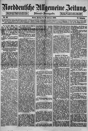 Norddeutsche allgemeine Zeitung vom 21.02.1879