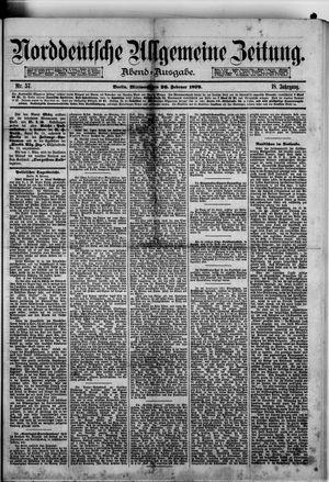 Norddeutsche allgemeine Zeitung vom 26.02.1879