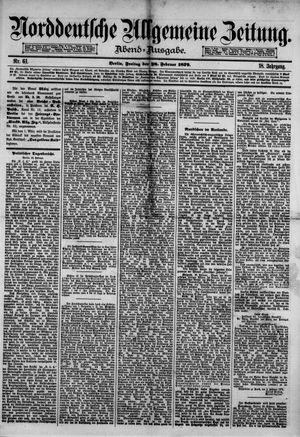 Norddeutsche allgemeine Zeitung vom 28.02.1879