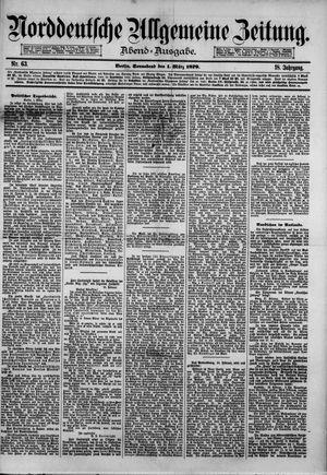 Norddeutsche allgemeine Zeitung on Mar 1, 1879