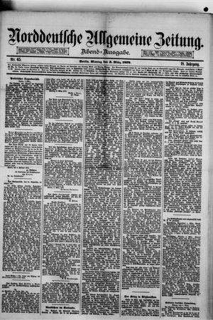 Norddeutsche allgemeine Zeitung vom 03.03.1879