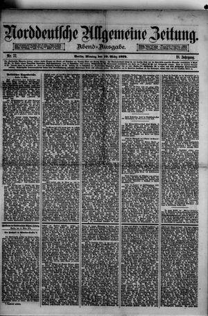 Norddeutsche allgemeine Zeitung vom 10.03.1879