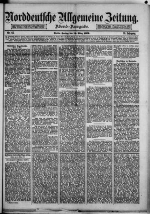 Norddeutsche allgemeine Zeitung vom 14.03.1879