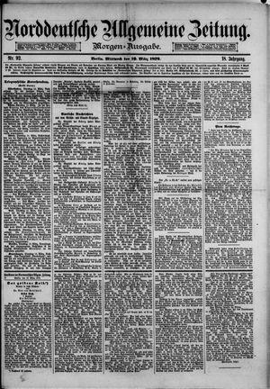 Norddeutsche allgemeine Zeitung vom 19.03.1879