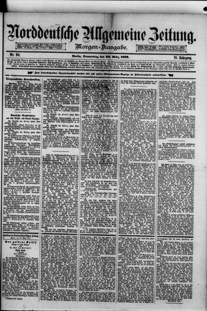 Norddeutsche allgemeine Zeitung vom 20.03.1879