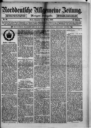 Norddeutsche allgemeine Zeitung vom 22.03.1879
