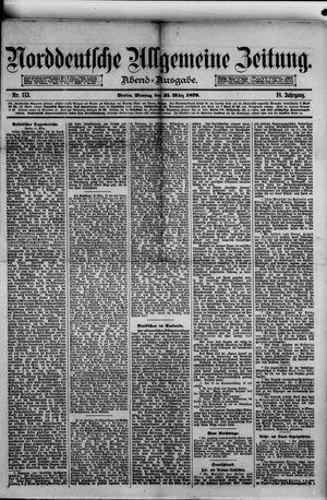 Norddeutsche allgemeine Zeitung vom 31.03.1879