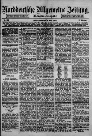 Norddeutsche allgemeine Zeitung on Apr 6, 1879