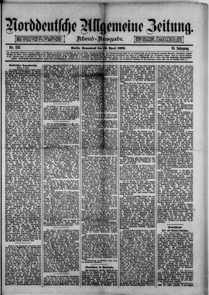 Norddeutsche allgemeine Zeitung vom 12.04.1879