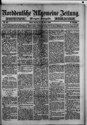 Norddeutsche allgemeine Zeitung vom 20.04.1879
