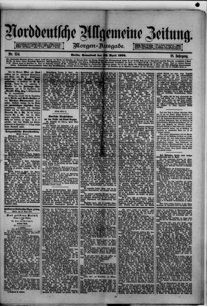Norddeutsche allgemeine Zeitung vom 26.04.1879