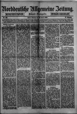 Norddeutsche allgemeine Zeitung vom 29.04.1879