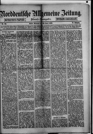 Norddeutsche allgemeine Zeitung vom 30.04.1879