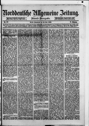 Norddeutsche allgemeine Zeitung vom 10.05.1879