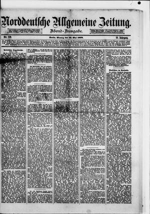 Norddeutsche allgemeine Zeitung vom 12.05.1879