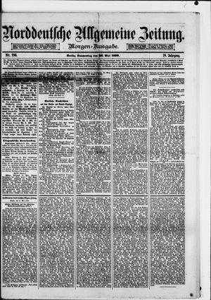 Norddeutsche allgemeine Zeitung vom 22.05.1879