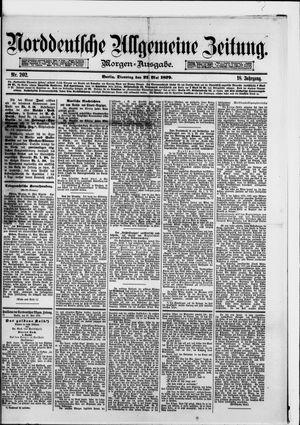 Norddeutsche allgemeine Zeitung vom 27.05.1879