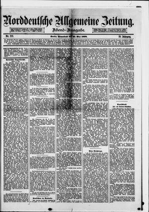 Norddeutsche allgemeine Zeitung vom 31.05.1879